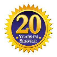 20 years in service